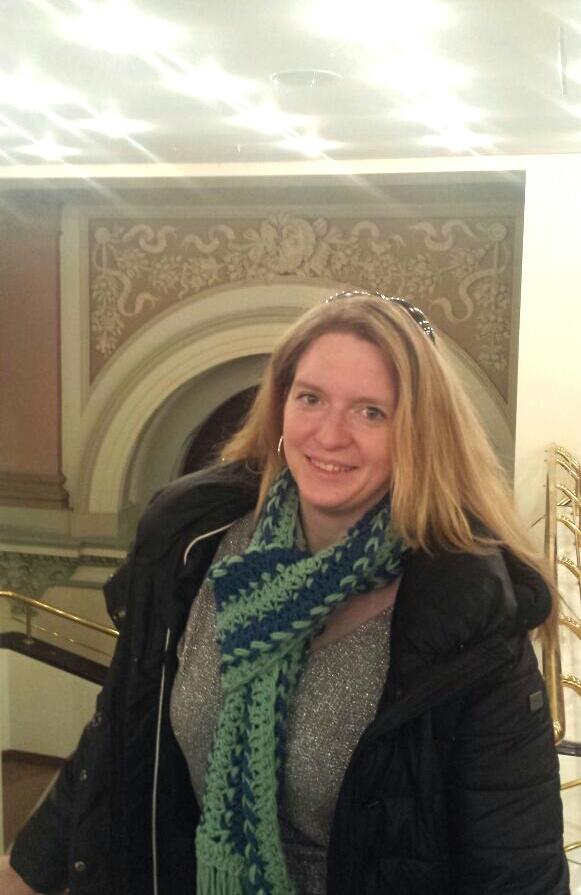 Mein neuer Schal in der Alten Oper Frankfurt
