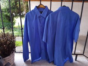 Alte Herrenhemden für Blusen-Upcycling