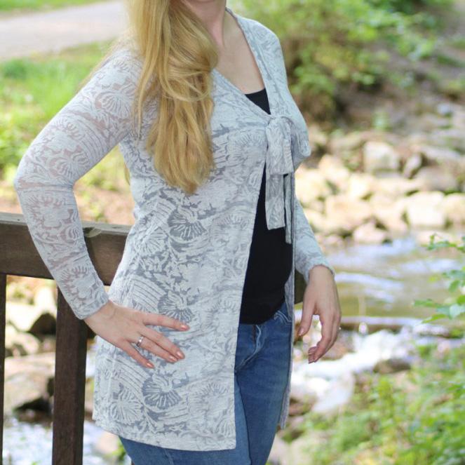 Sommerlicher Long-Cardigan Caroly mit Anlaufschwierigkeiten
