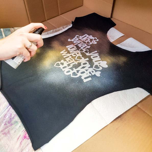 Lillestoff-T-Shirt mit Marabu-Motiv