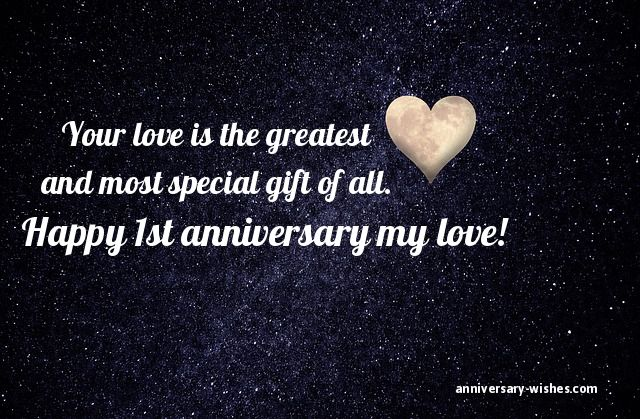 First anniversary wishes happy st anniversary messages quotes