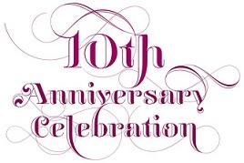 10 Year Wedding Anniversary Invitation With Frame