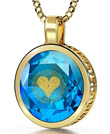 I Love You Necklace 24k Gold