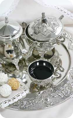 silver wedding teaset gift idea image