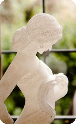 Alabaster carving of a woman to represent the 37th year anniversary theme