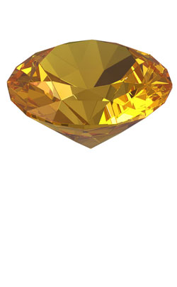 Diamond cut Beryal gemstone to represent the 38th year anniversary symbol