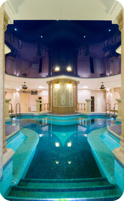 Luxurious spa swimming pool room to represent the 49th year anniversary theme