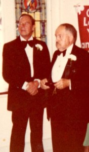 Dad & his father at my wedding, 1980