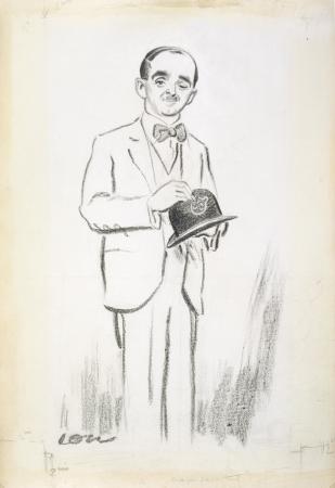 David Low, self-portrait