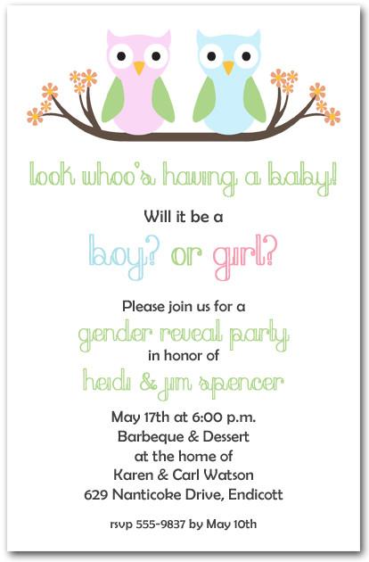 Fall Baby Boy Shower Invitations