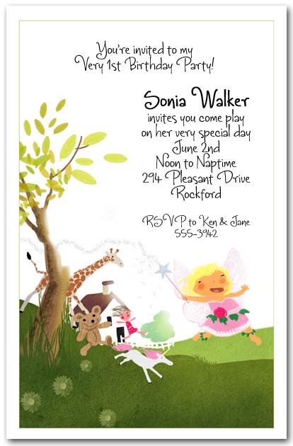 fairy dance birthday invitation
