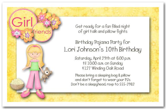 slumber party invitations sleepover