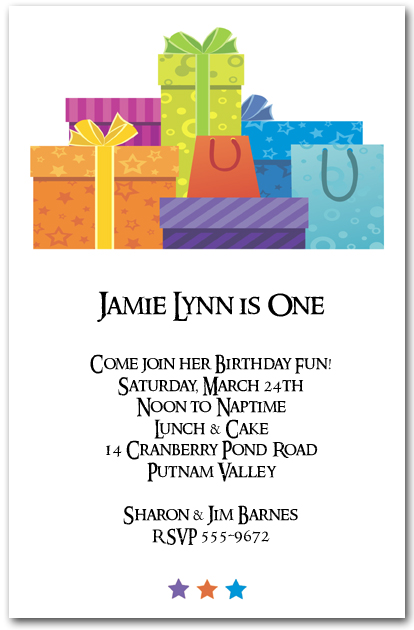 Gift Boxes Party Invitations Birthday Invitations