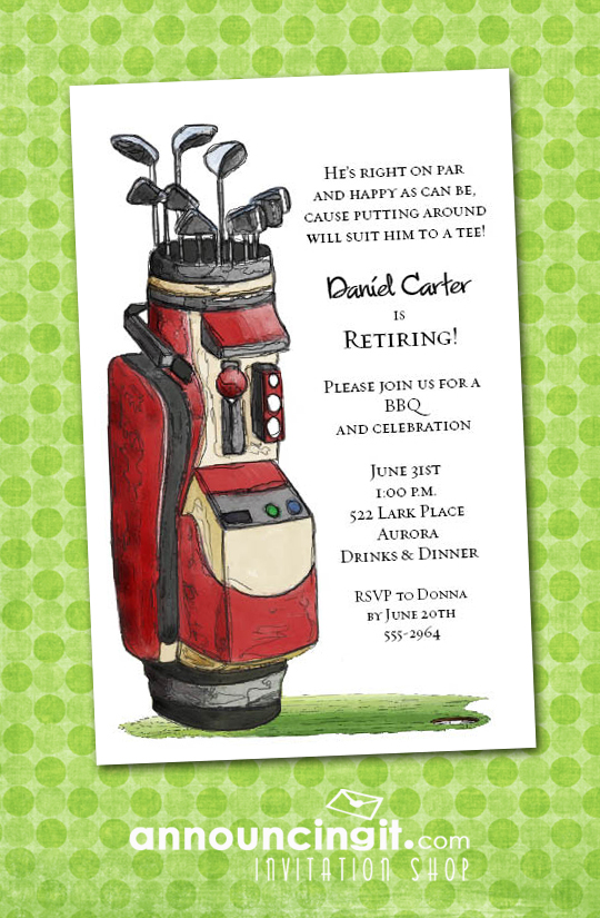 Save Date Cards Golf Theme