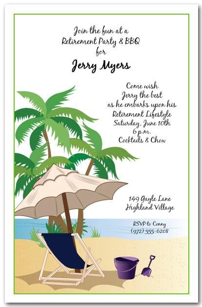 Kick Back Beach Invitation Tropical Party Invitations