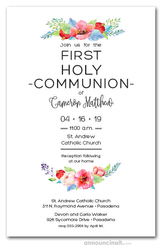 first communion invitations first holy