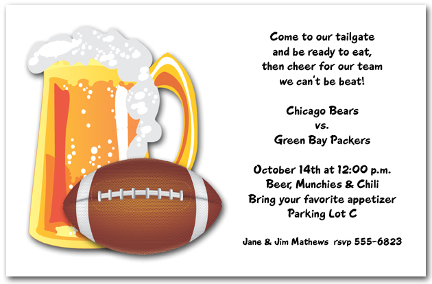 beer and football invitations
