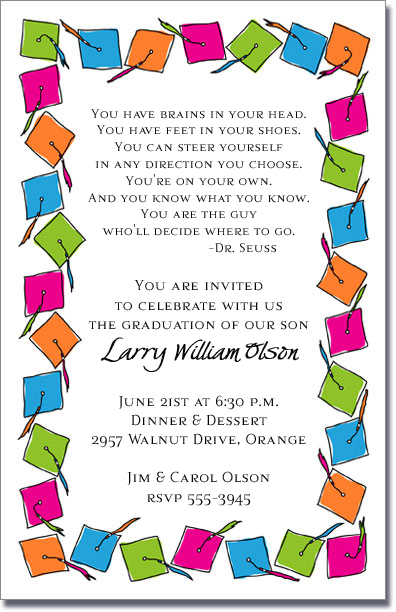 Pre Printed Birthday Party Invitations