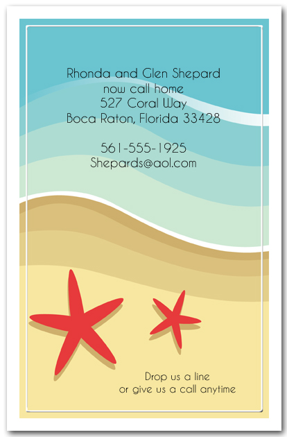 Red Starfish On The Beach Invitations