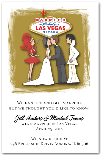 Married In Las Vegas With Elvis Announcement