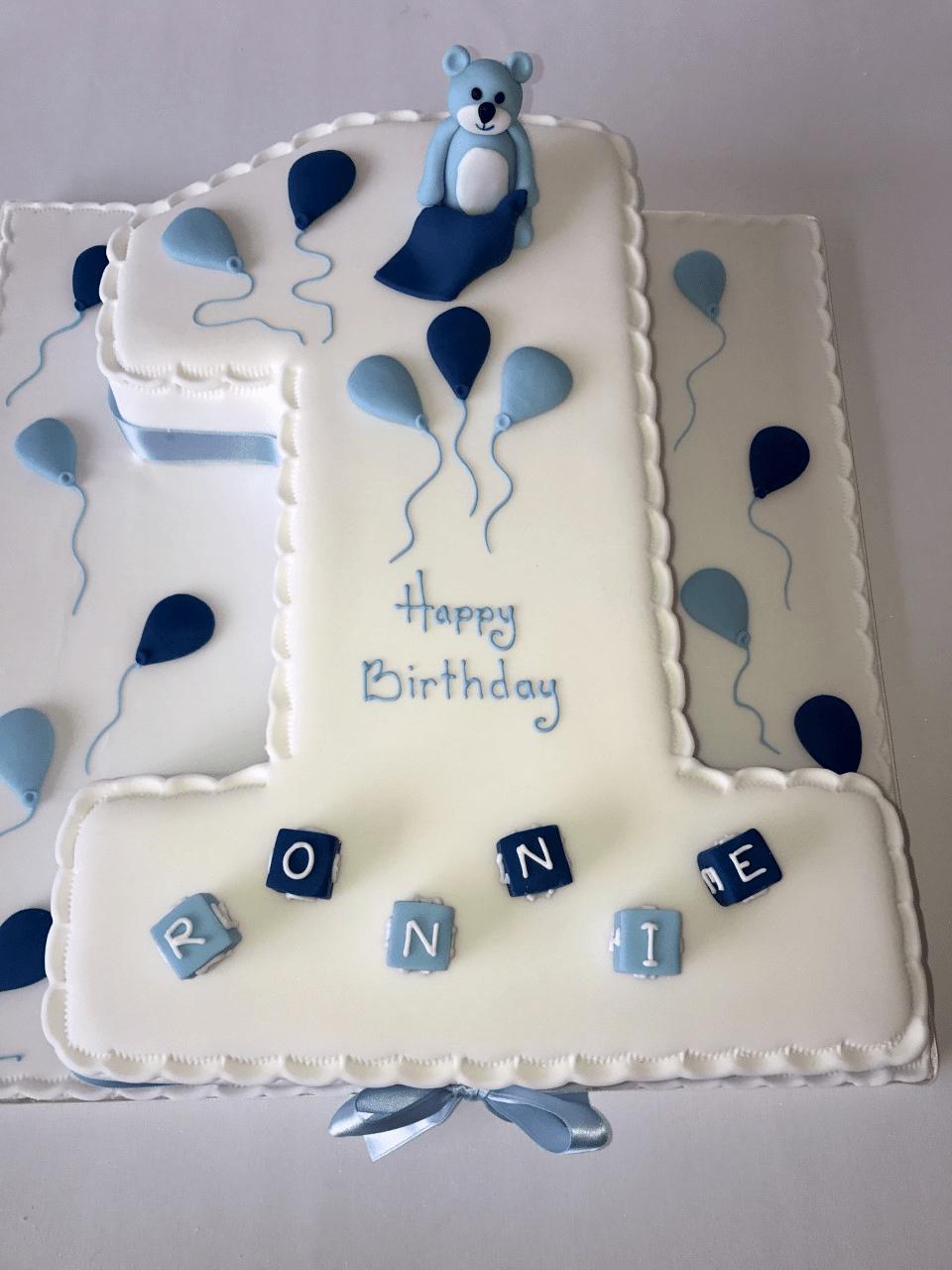 Excellent Boys Number 1 Anns Designer Cakes Personalised Birthday Cards Beptaeletsinfo