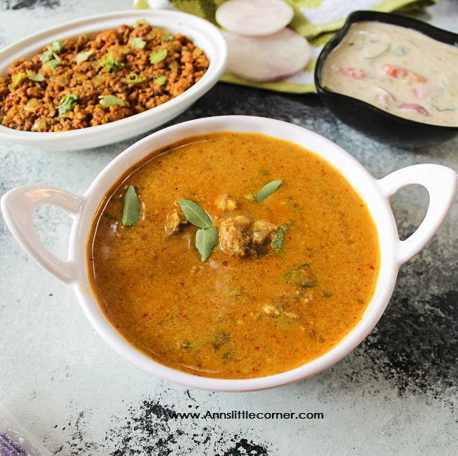 Home Style Mutton Gravy / Mutton Kuzhambu