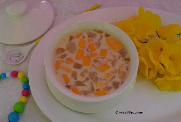 Ice Apple Mango Payasam, Ice Apple Payasam, Mango payasam, Mango Kheer, Mango Payasam