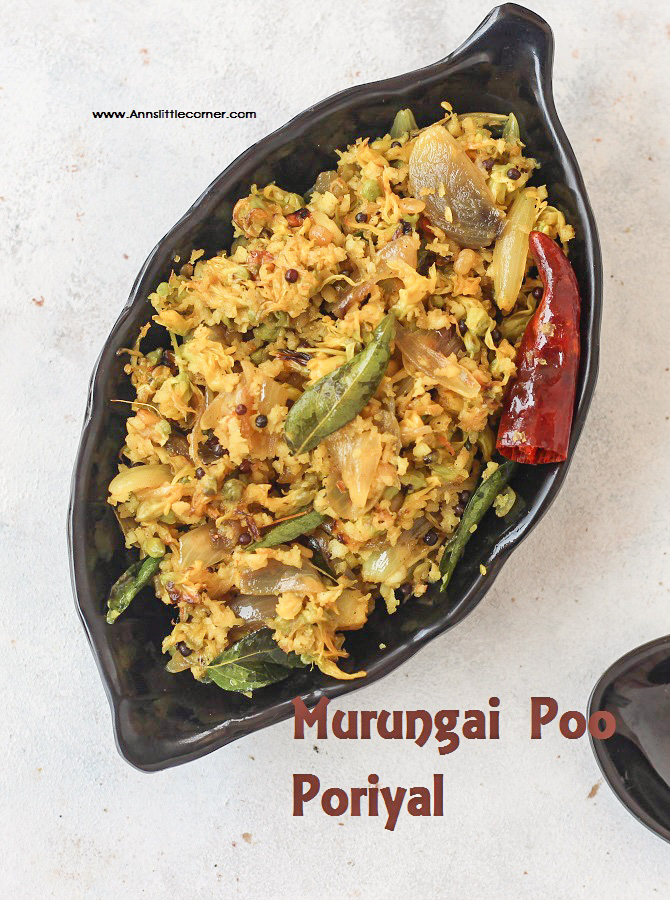DrumStick Blossom Stir Fry / Murungai Poo Poriyal / Drumstick flower fry