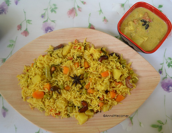 Vegatable Biryani in Pressure Cooker