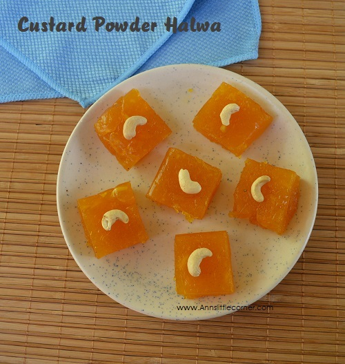 Custard Powder Halwa | Diwali Sweet Recipe
