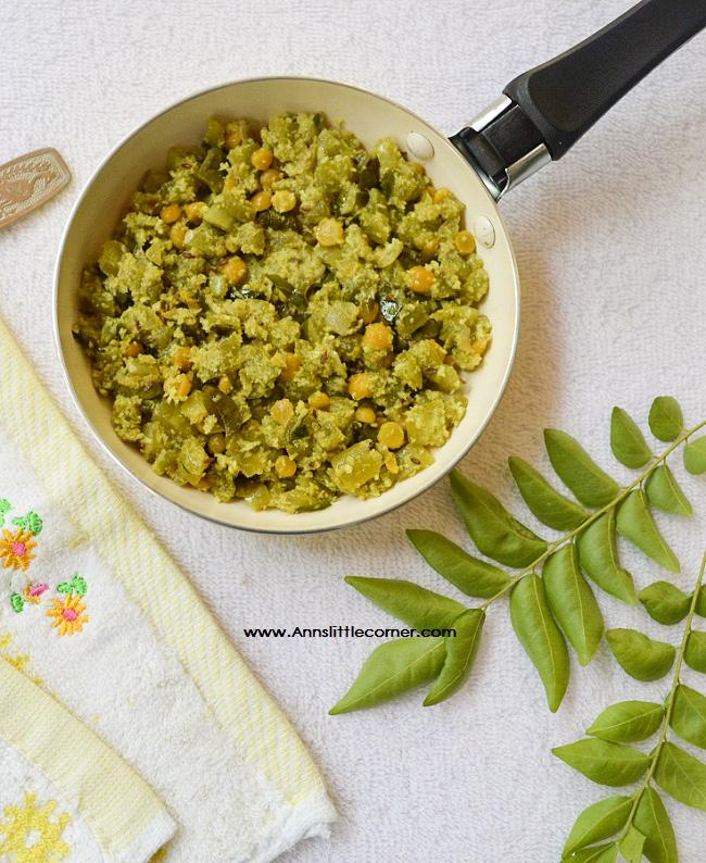 Pudalangai Poriyal | Snake Gourd Stir Fry