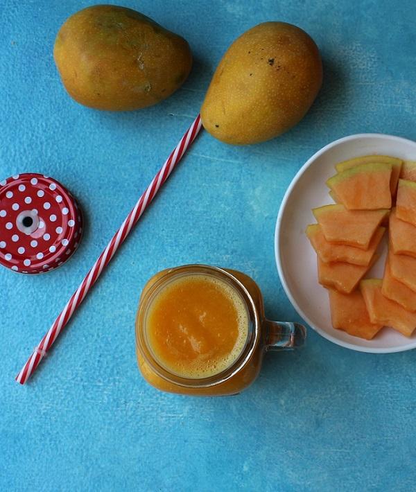 cantaloupe Mango smoothie