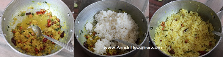 Raw Mango Rice step 2