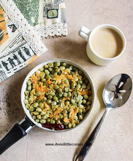 Pattani Sundal / Green Peas Sundal