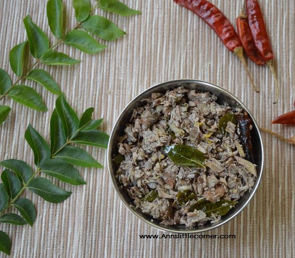 Valai Poo Poriyal / Banana Flower Stir Fry