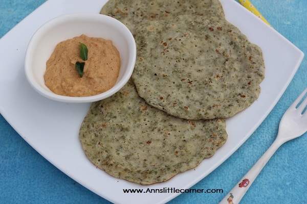 green gram sprouts dosa