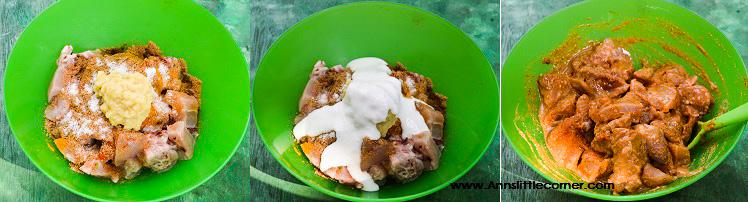 Coriander Chicken Fry step 3