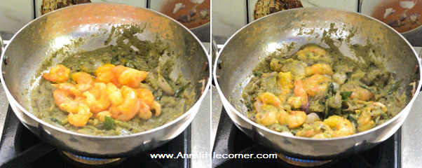Prawn Curry Leaves Masala / Karuvepilai Eral Varuval