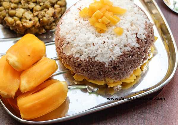 PalaPazha Puttu / Jackfruice Rice Steamed cake