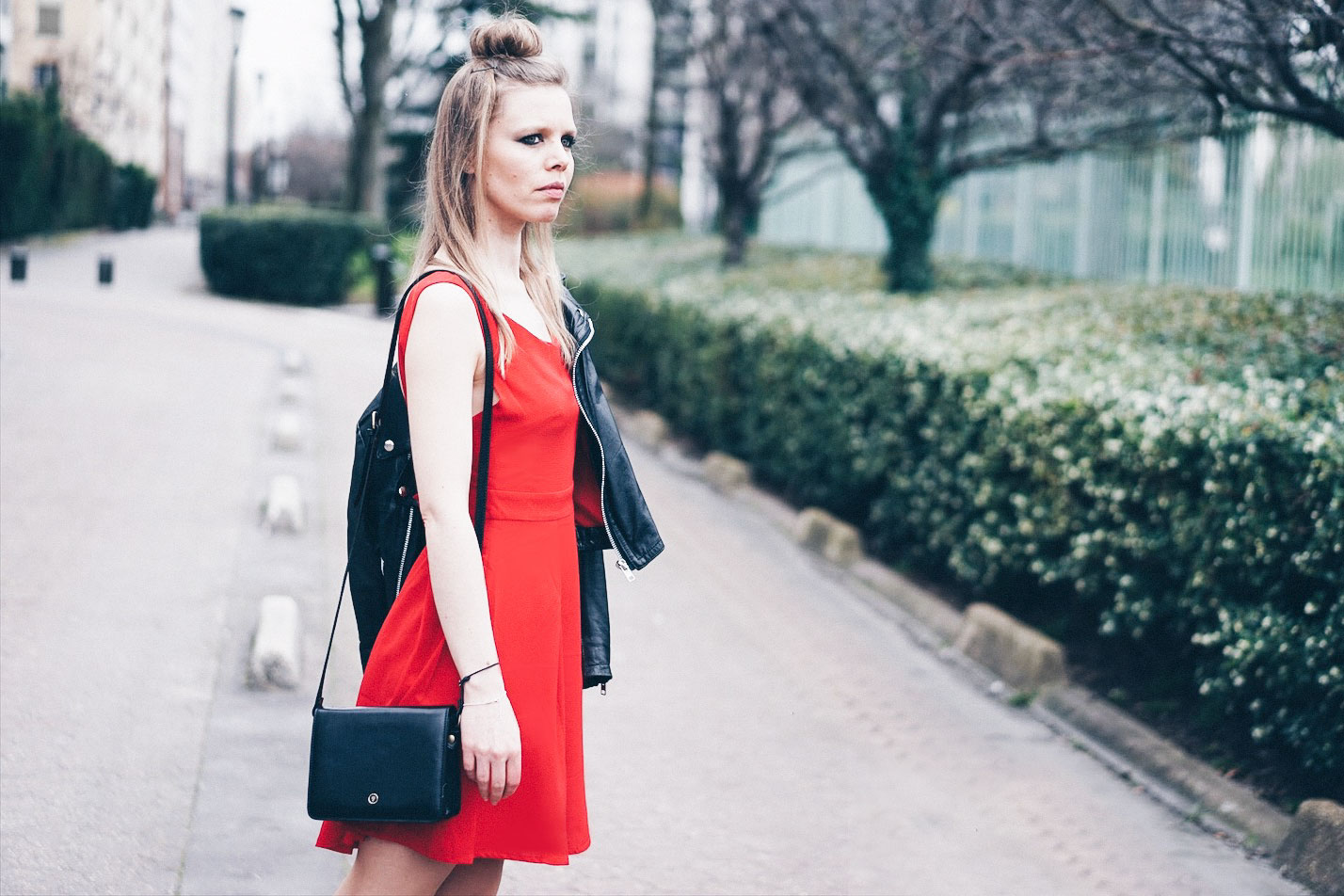robe rouge sac Maxwell Scott