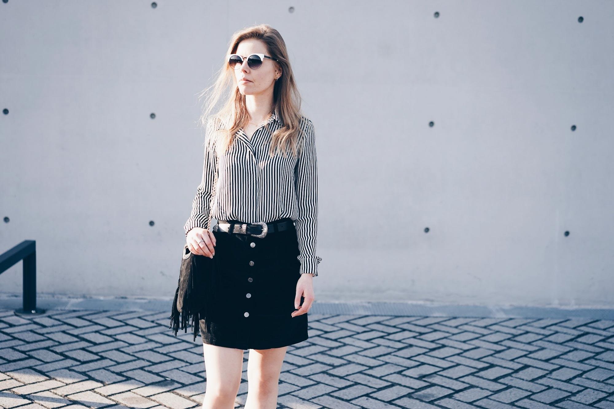 jupe trapèze velours