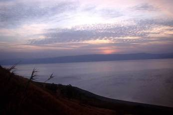 Dusk over Sear of Galilee from Pictorial Library of Bible Lands