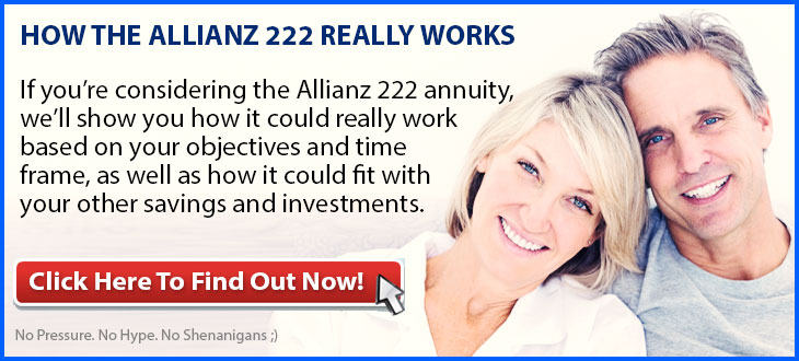 allianz 222 annuity banner with retired man and woman