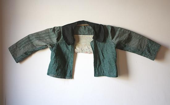 antique teal jacket