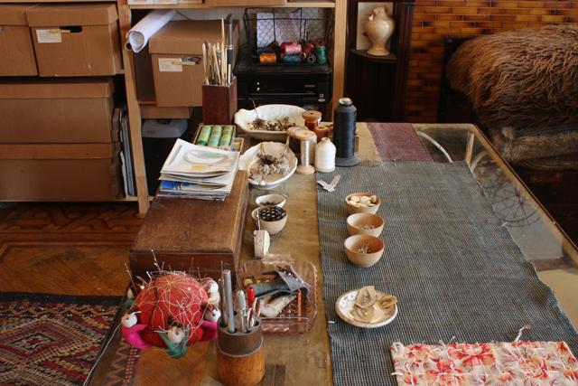 ann wood's work table