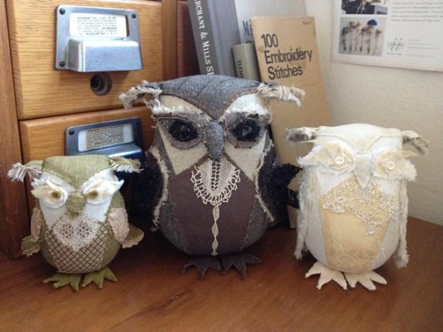 handmade owl family
