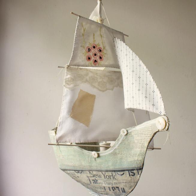 paper mache ship
