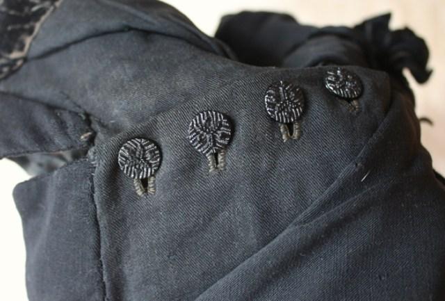 antique black buttons