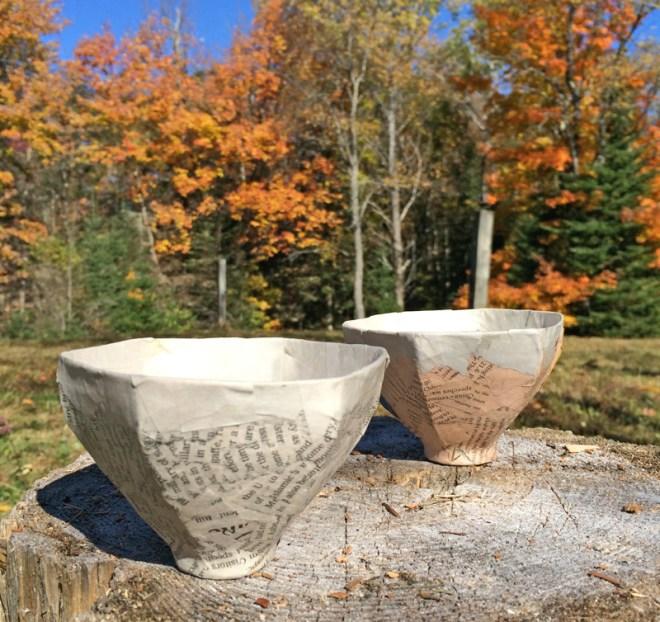 paper mache teacups