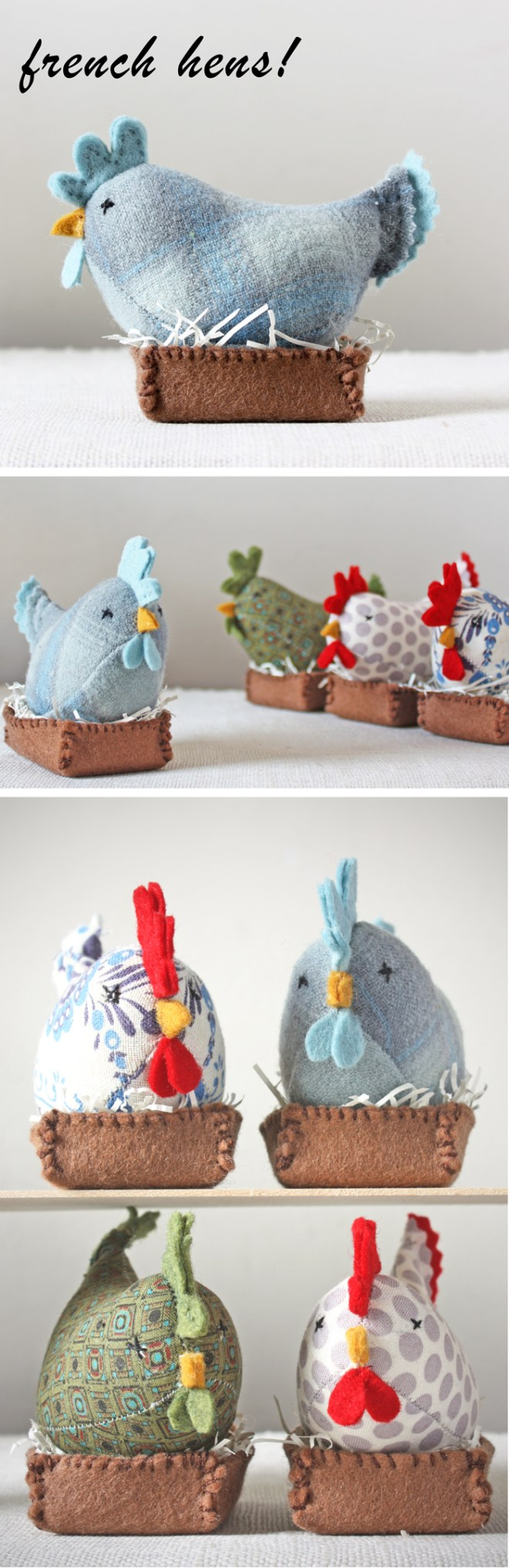 ann wood : french hens